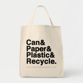 RRA reciclan el tote Bolsas