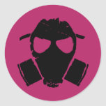 rrc - gas mask pink sticker