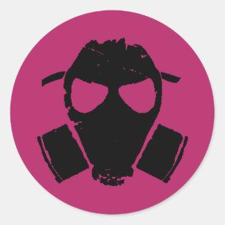 rrc - rosa de la careta antigás pegatina