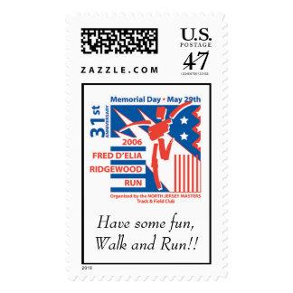 rrlogosmnoweb, Have some fun,Walk and Run!! Postage Stamp