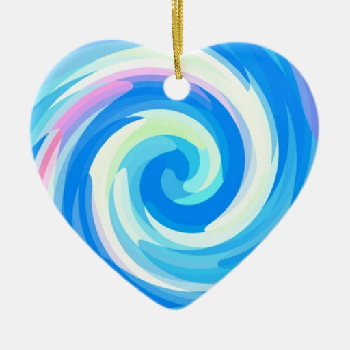 Rrose reconstruido adorno navideño de cerámica en forma de corazón