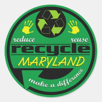 RRR Maryland Pegatina Redonda