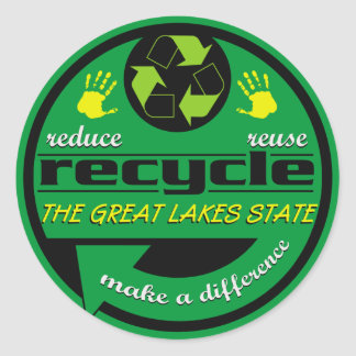 RRR The Great Lakes State Classic Round Sticker