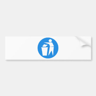 RRRE REDUCE REUSE RECYCLE GARBAGE LITTER TRASHCAN CAR BUMPER STICKER