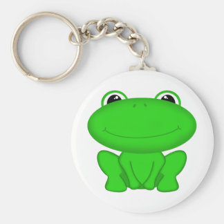 ¡Rrrribbit! Froggie verde Llavero Redondo Tipo Pin