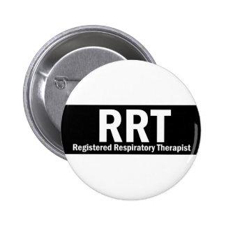 RRT Black & White Pinback Button