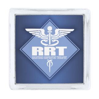 RRT Registered Respiratory Therapist Silver Finish Lapel Pin