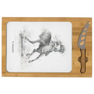 "RS03 ""Equestrian road signals"" cheeseboard"