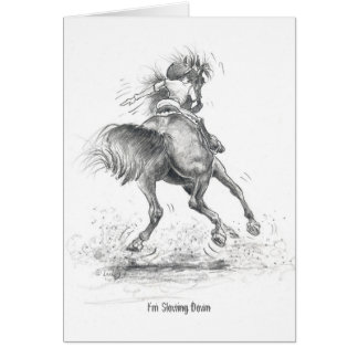 "RS03 ""Equestrian road signals"" Greetings Card"