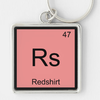 Rs - Redshirt Chemistry Element Symbol Funny Tee Keychain