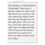 Rscheearch at Cmabrigde Uinervtisy Geretign Crad Cards
