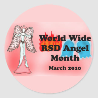 RSD Angel M Classic Round Sticker