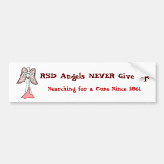 RSD Angels NEVER Give Up! Car Bumper Sticker