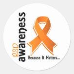 RSD Awareness 5 Reflex Sympathetic Dystrophy Round Stickers