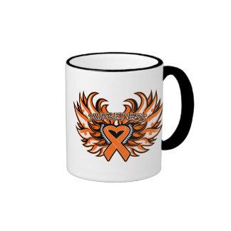RSD Awareness Heart Wings Ringer Coffee Mug