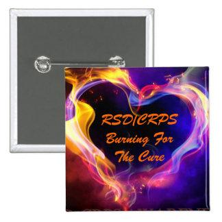 RSD/CRPS Awareness Button Heart