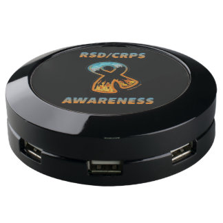 RSD/CRPS AWARENESS fire & ice ribbon USB Charging Station