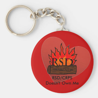 RSD/CRPS Doesn't Own Me Heart Basic Round Button Keychain