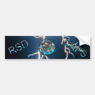 RSD/CRPS Flaming Hand & Leg Starburst Bumper Stick Bumper Sticker