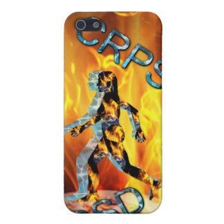 RSD/CRPS mi mundo en el caso del fuego iPhone 5 Carcasa
