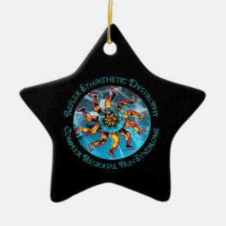 RSD CRPS que flamea el ornamento de la ESTRELLA de Ornamentos De Navidad