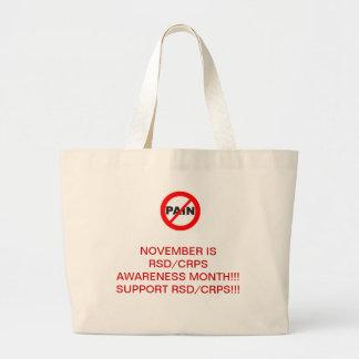 RSD/CRPS tote-NO PAIN Large Tote Bag
