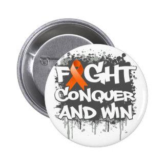 RSD Fight Conquer and Win Pinback Button