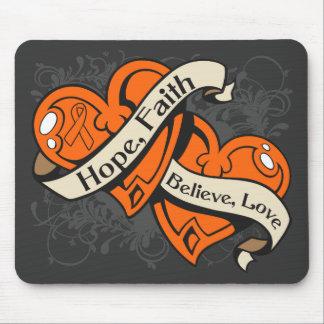 RSD Hope Faith Dual Hearts Mouse Pad