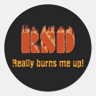 ¡RSD, me consume realmente! Pegatina Redonda