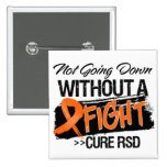 RSD Not Going Down Without a Fight 2 Inch Square Button