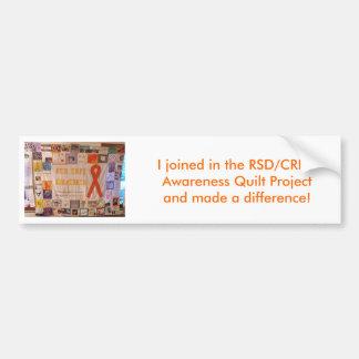 RSD Quilt1, me uní a en la conciencia de RSD/CRPS… Pegatina Para Auto