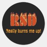 RSD, Really Burns Me Up! Sticker