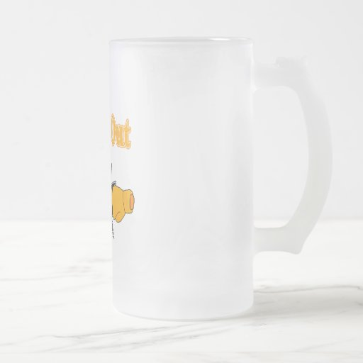 RSDS 16 OZ FROSTED GLASS BEER MUG