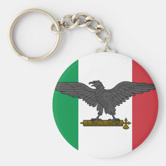 Rsi, bandera de Italia Llavero Redondo Tipo Pin
