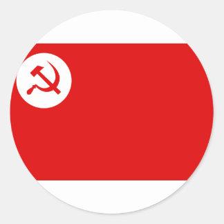 Rsp, bandera de la India Pegatina Redonda
