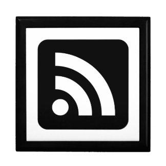 RSS Feed Icon Keepsake Box