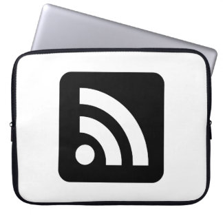 RSS Feed Icon Laptop Computer Sleeve