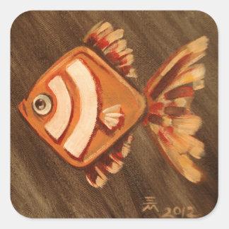 RSS Fish Square Sticker
