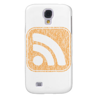 RSS Icon Button Weathered Design Galaxy S4 Cover