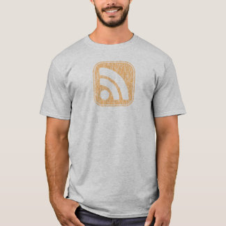 RSS Icon Button Weathered Design T-Shirt