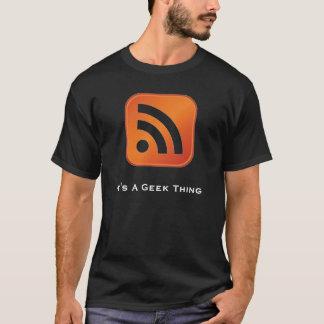 RSS It's A Geek Thing Basic Dark T-Shirt