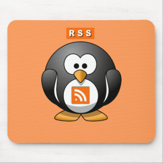 RSS Penguin Orang Background Mouse Pad