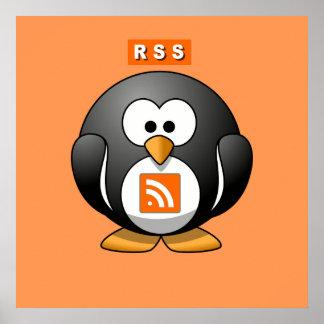 RSS Penguin Orang Background Poster