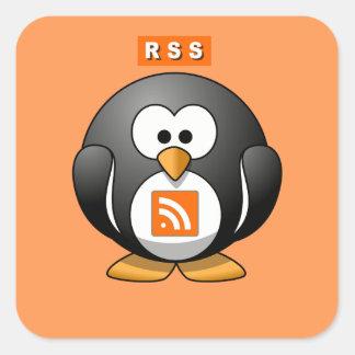 RSS Penguin Orang Background Square Sticker