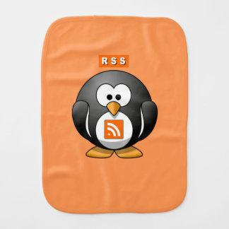 RSS Penguin Orang Background Burp Cloths
