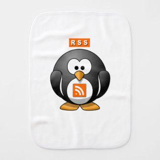 RSS Penguin Baby Burp Cloths