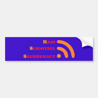 RSS Radi shred sauerkraut Bumper Sticker