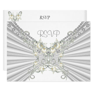 RSVP 25th Anniversary White Silver Pearl Jewel 2 Card