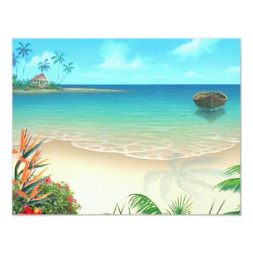 Beach Themed RSVP-2 Exotic Beach without vellum Card