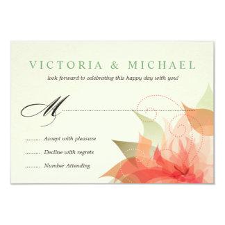 "RSVP 2-Sided Autumn Orange Floral 3.5"" X 5"" Invitation Card"